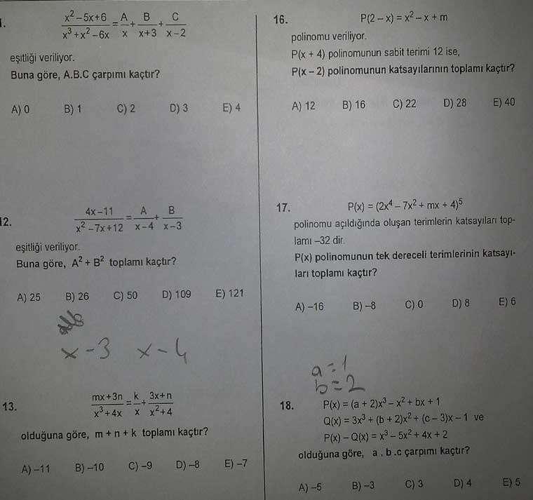 polinom testi