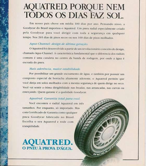 Aquatred. O pneu à prova d'água.